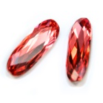 4161 Long Classical Oval Padparadscha (542)