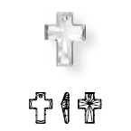 6864 Tall Chunky Cross Pendant