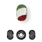 81815 BeCharmed Pave Flag Italy
