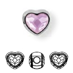 81951 BeCharmed Heart Bead