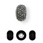 84501 BeCharmed Pave Ceramics Bead