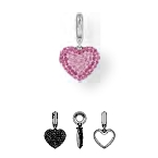 86502 BeCharmed Pave Heart Charm