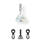 87002 BeCharmed Crystal XILION Triangle Charm
