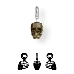 87008 BeCharmed Crystal Skull Charm